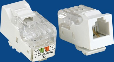TM-2003 Cable RJ11 Voice keystone jack TM-2003 Cable RJ11 Phone Voice keystone jack - RJ11/12 (CAT3) Voice Keystone Jacks China manufacturer