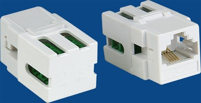 TM-4301 RJ-11 Connector Voice keystone jack TM-4301 Cat3 RJ-11 Connector Voice keystone jack RJ11/12 (CAT3) Voice Keystone Jacks