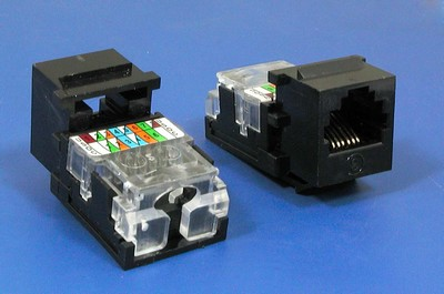 TM-6005 RJ11 Connector Voice  TM-6005 Cat3 RJ11 Connector Voice keystone jack - RJ11/12 (CAT3) Voice Keystone Jacks China manufacturer